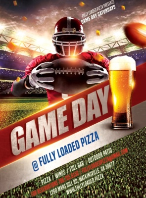 Fully Loaded Pizza Game Day Flyer