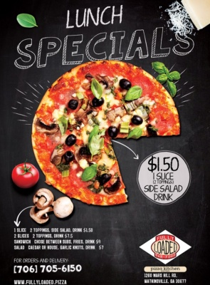 Fully Loaded Pizza - Lunch Specials Flyer