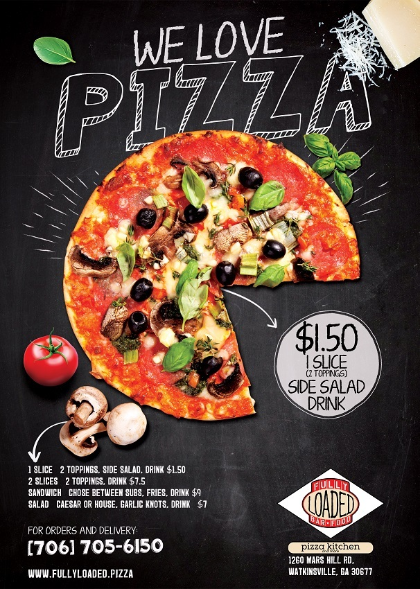 fully loaded pizza lunch specials flyer fully loaded pizza