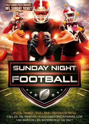 Fully-Loaded-Pizza-Sunday-Night-NFL-Football-Flyer